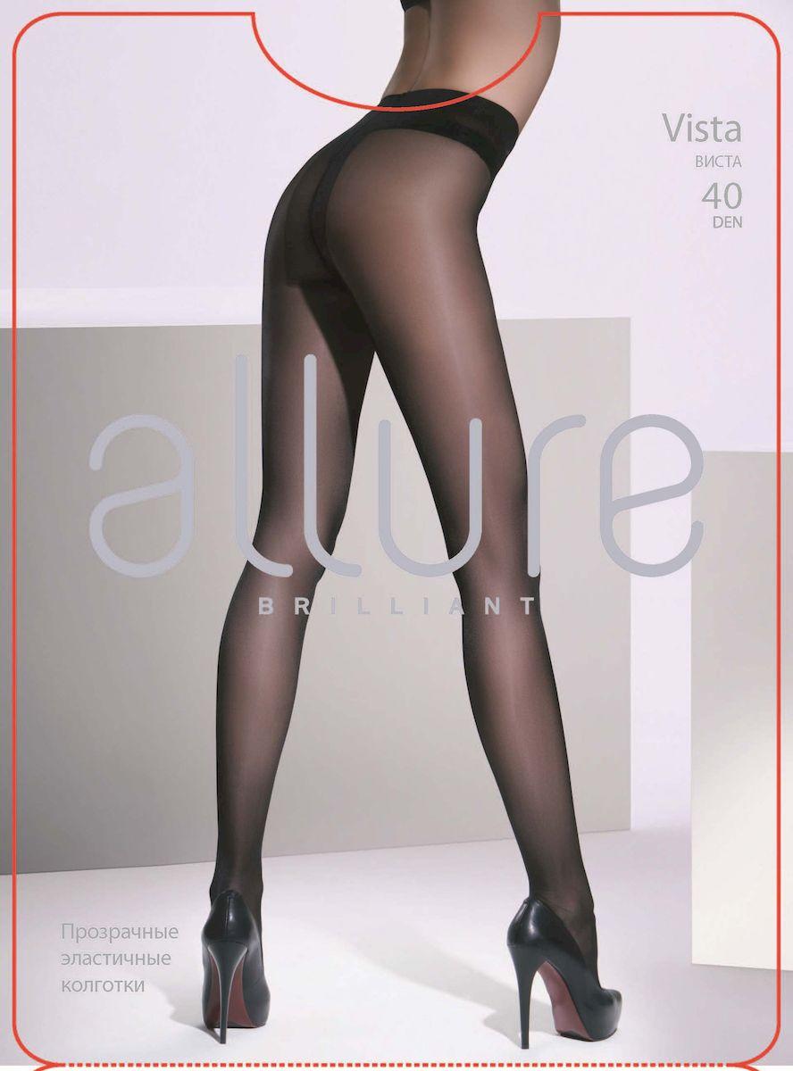 Колготки Allure Vista 40, цвет: Nero (черный). Размер 3Vista 40Классические прозрачные колготки однородные по всей длине. Плоские швы, укрепленный носок и хлопковая ластовица.