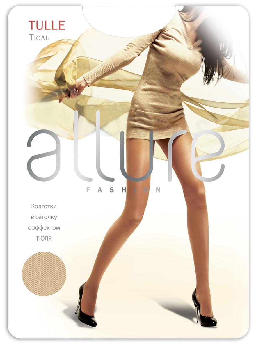 Колготки Allure Tulle 20, цвет: Caramello (карамель). Размер 3/4Tulle 20Тонкие колготки с эффектом «тюль», за счет особой вязки идеально подходят для летнего сезона. Плоские швы, укрепленный носок и хлопковая ластовица.