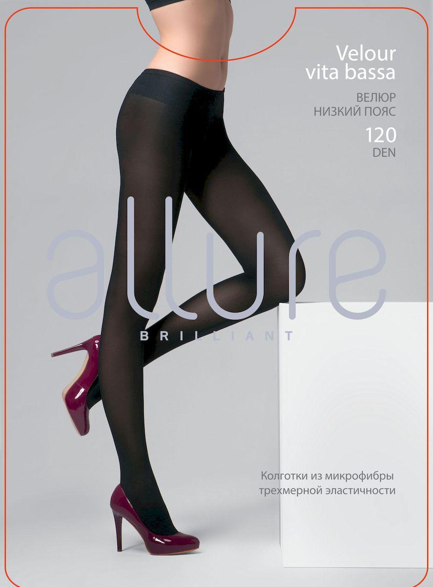 Колготки Allure Velour 120 Vita Bassa, цвет: Nero (черный). Размер 4 цена 2017