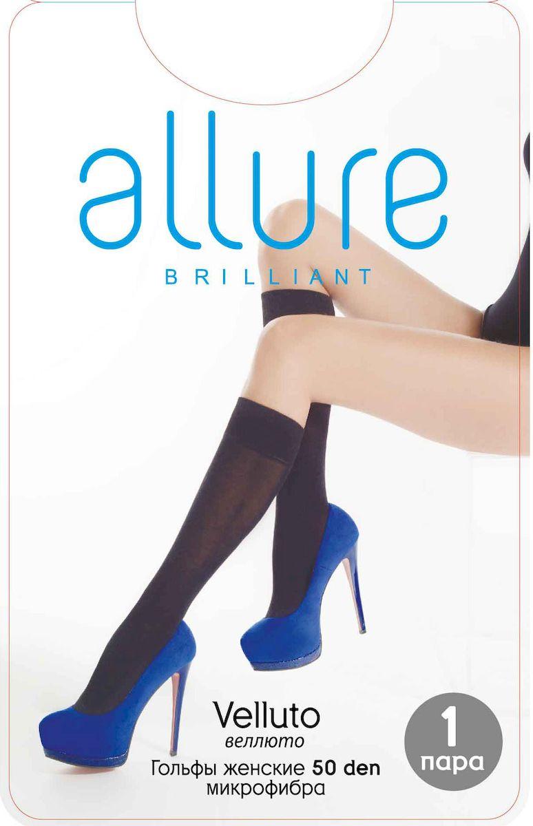 Гольфы Allure Velluto 50, цвет: Glase (загар). Размер универсальный гольфы allure massage 40 цвет nero черный размер универсальный