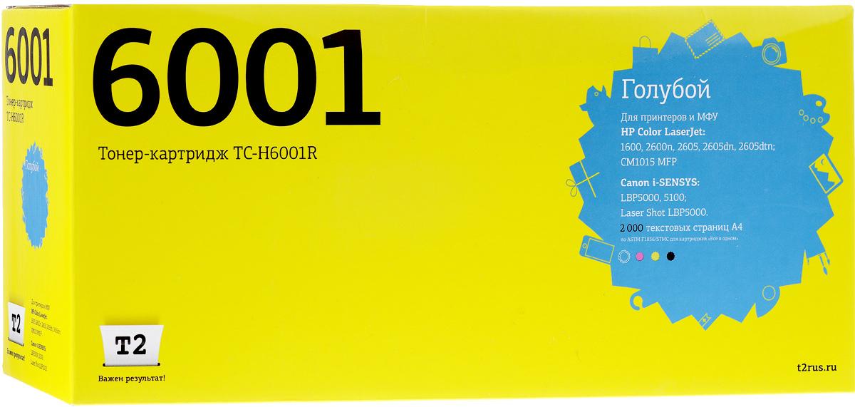 T2 TC-H6001R (аналог Q6001A), Cyan тонер-картридж для HP Color LaserJet 1600/2600n/Canon 707C dometic tc 14 автохолодильник