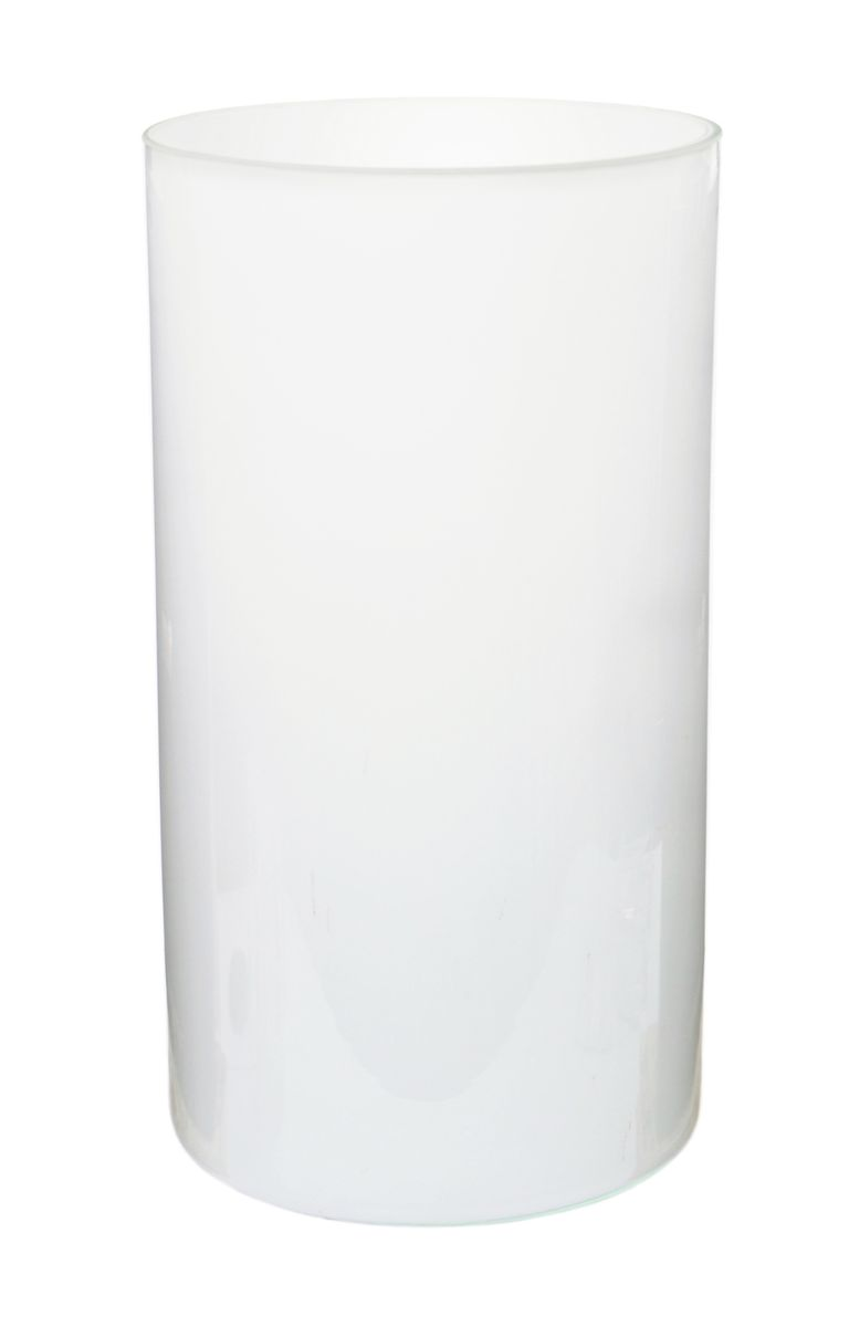 Ваза Nina Glass Ника, цвет: белый, высота 30 см салатник nina glass ажур цвет сиреневый диаметр 16 см