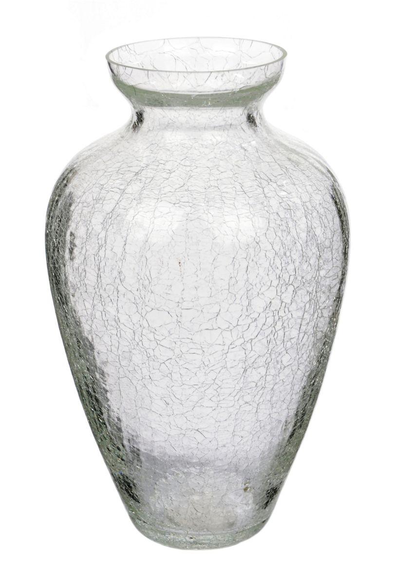 Ваза Nina Glass Амбрэ, кракелюр, цвет: прозрачный, высота 25,5 смNG90-025-255PKВаза Nina Glass Амбрэ выполнена из высококачественного стекла и имеет изысканный внешний вид. Такая ваза станет ярким украшениеминтерьера и прекрасным подарком к любому случаю. Нерекомендуется мыть в посудомоечной машине.Высота вазы: 19,5 см.
