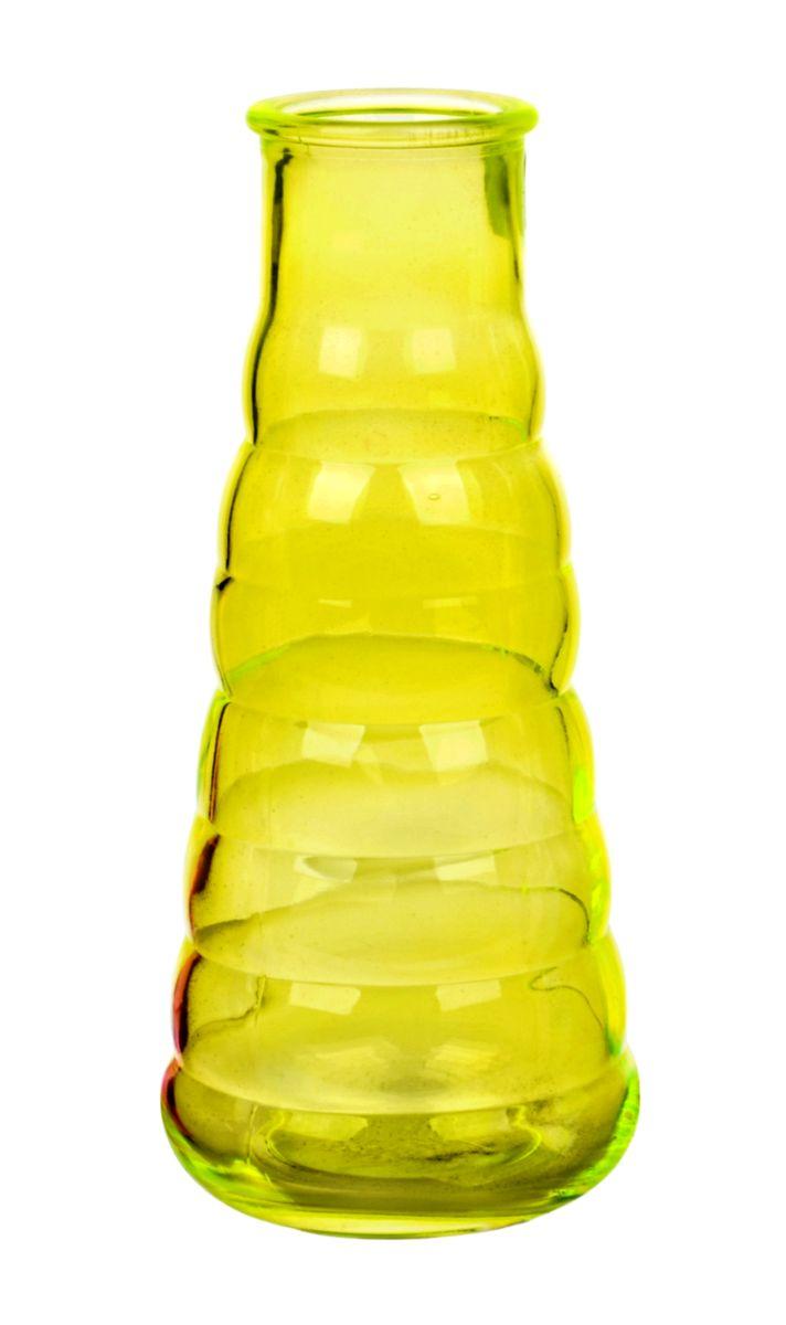 Ваза Nina Glass Грация, цвет: желтый, высота 21 смNG92-044M_желтыйВаза Nina Glass Грация выполнена из высококачественногостекла. Изделие имеет изысканный внешний вид и рельефную поверхность. Такая ваза станет ярким украшением интерьера и прекрасным подарком к любому случаю. Не рекомендуется мыть в посудомоечной машине.Высота вазы: 21 см.