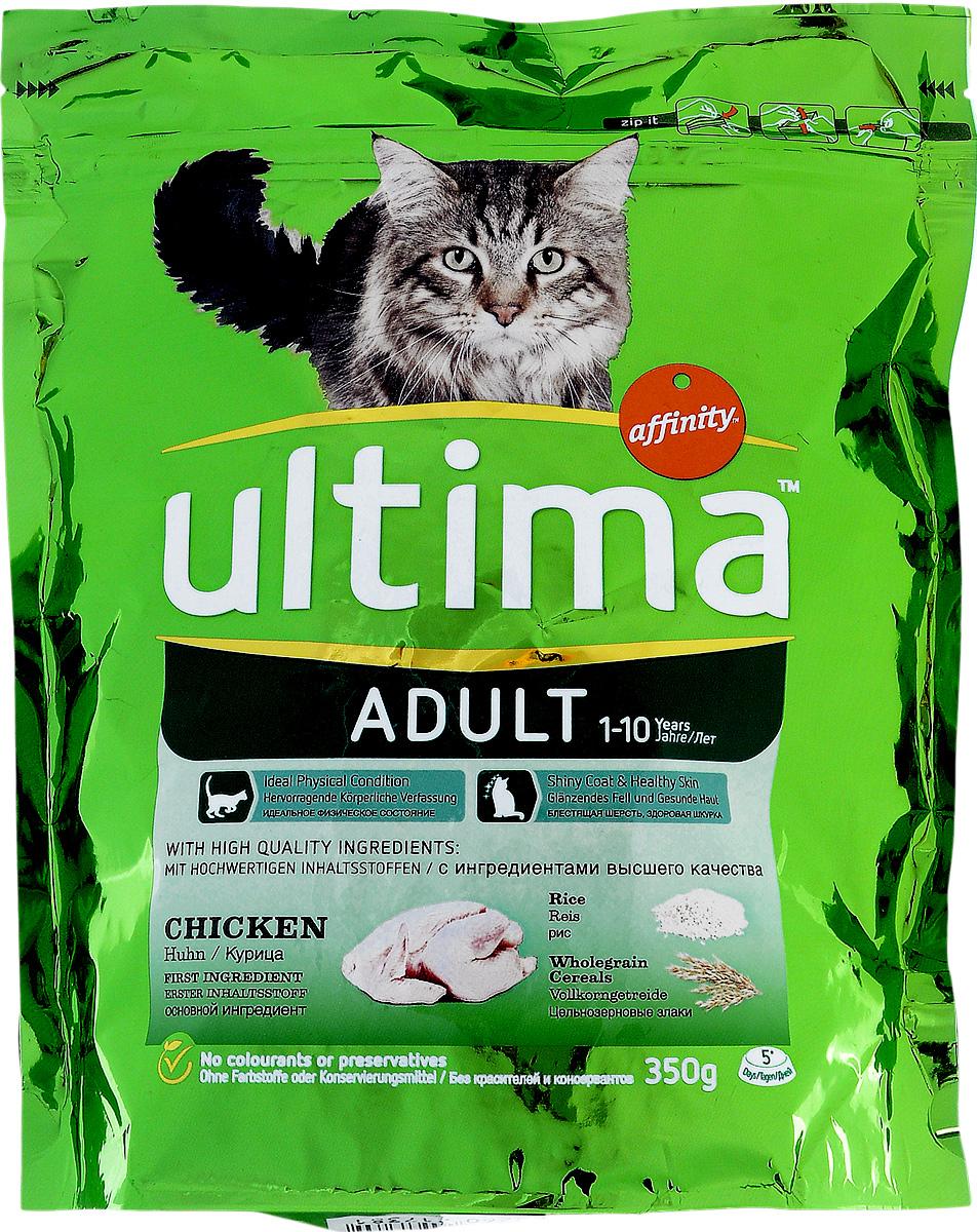 Корм сухой Ultima для взрослых кошек, с курицей и рисом, 350 г 766976 дэта