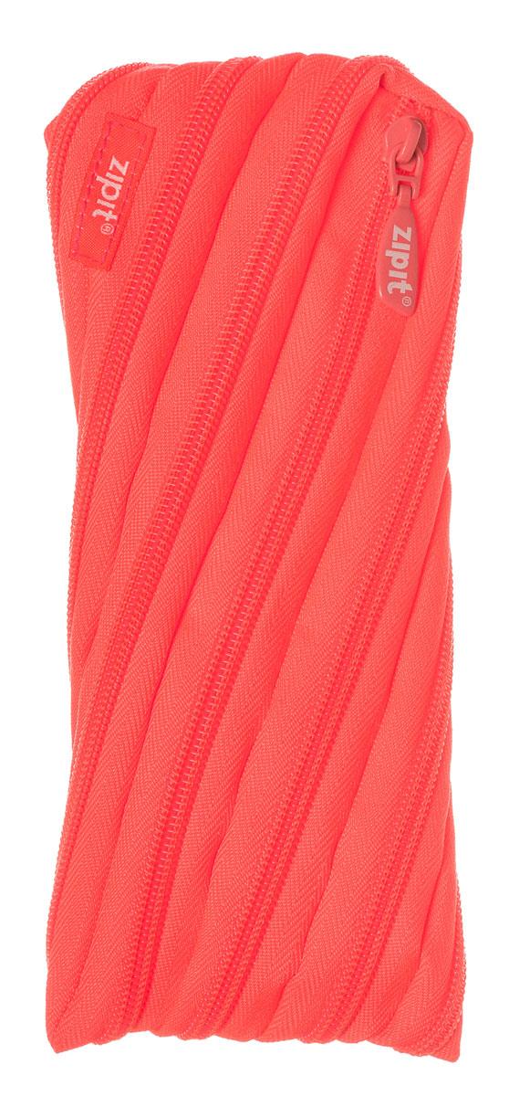 Zipit Пенал Neon Pouch цвет коралловый zipit пенал сумочка neon jumbo pouch
