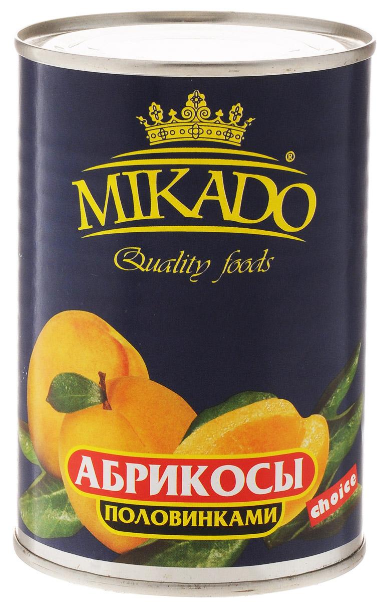 Mikado Абрикосы половинками очищенные в сиропе, 425 мл4007415005589Половинки абрикосов Mikado, очищенные в сахарном сиропе.