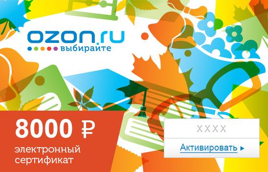 Электронный подарочный сертификат (8000 руб.) Школа