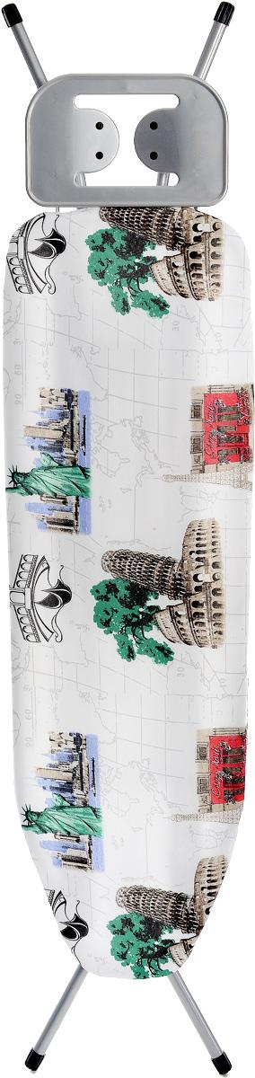 Доска гладильная Hausmann Smart, цвет: белый, красный, зеленый, 110 х 33 смHM-3150Гладильная доска Hausmann Smart выполнена из высококачественного металла. Рабочая поверхность обтянута чехлом из хлопка. Поверхность позволит вам без труда гладить не только рубашки, мужские брюки, но и постельное белье. Доска оснащена подставкой для утюга из металла с силиконовыми вставками. Ножки снабжены накладками, которые предотвращают скольжение, что создает удобные условия для глажки, а также препятствуют образованию царапин на полу. Гладильная доска легко складывается и не занимает много места в сложенном состоянии, что делает ее удобной для хранения. Гладильная доска Hausmann Smart сочетает в себе качество, удобство и практичность. Она станет необходимым атрибутом для любой хозяйки.Размер рабочей поверхности: 110 х 30 см.Высота доски: 70 см, 90 см.