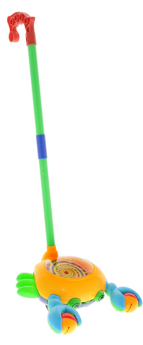 Ami&Co Игрушка-каталка Рак цвет желтый голубой зеленый