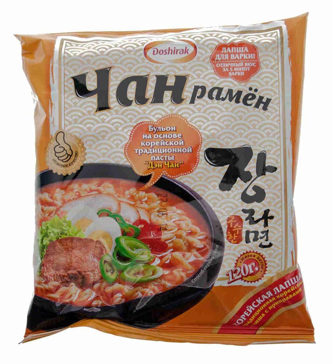 Doshirak Чан рамен лапша быстрого приготовления со вкусом говядины, 120 г