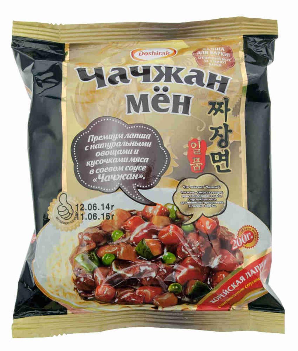 Doshirak Чачжан Мен лапша корейская, 200 г8801128505628Лапша быстрого приготовления, стоит только залить кипятком.