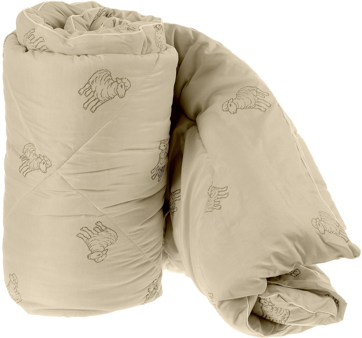 Одеяло теплое Легкие сны Золотое руно, наполнитель: овечья шерсть, цвет: бежевый, 200 х 220 см200(32)05-ОШП_бежевый с овечкамиТеплое стеганое одеяло Легкие сны Золотое руно с наполнителем из овечьей шерсти расслабит, снимет усталость и подарит вам спокойный и здоровый сон. Шерстяные волокна, получаемые из овечьей шерсти, имеют полую структуру, придающую изделиям высокую износоустойчивость.Чехол одеяла, выполненный из смесовой ткани отлично пропускает воздух, создавая эффект сухого тепла. Одеяло простегано. Стежка надежно удерживает наполнитель внутри и не позволяет ему скатываться.Уважаемые клиенты!Обращаем ваше внимание на цветовой ассортимент товара. Поставка осуществляется в зависимости от наличия на складе.