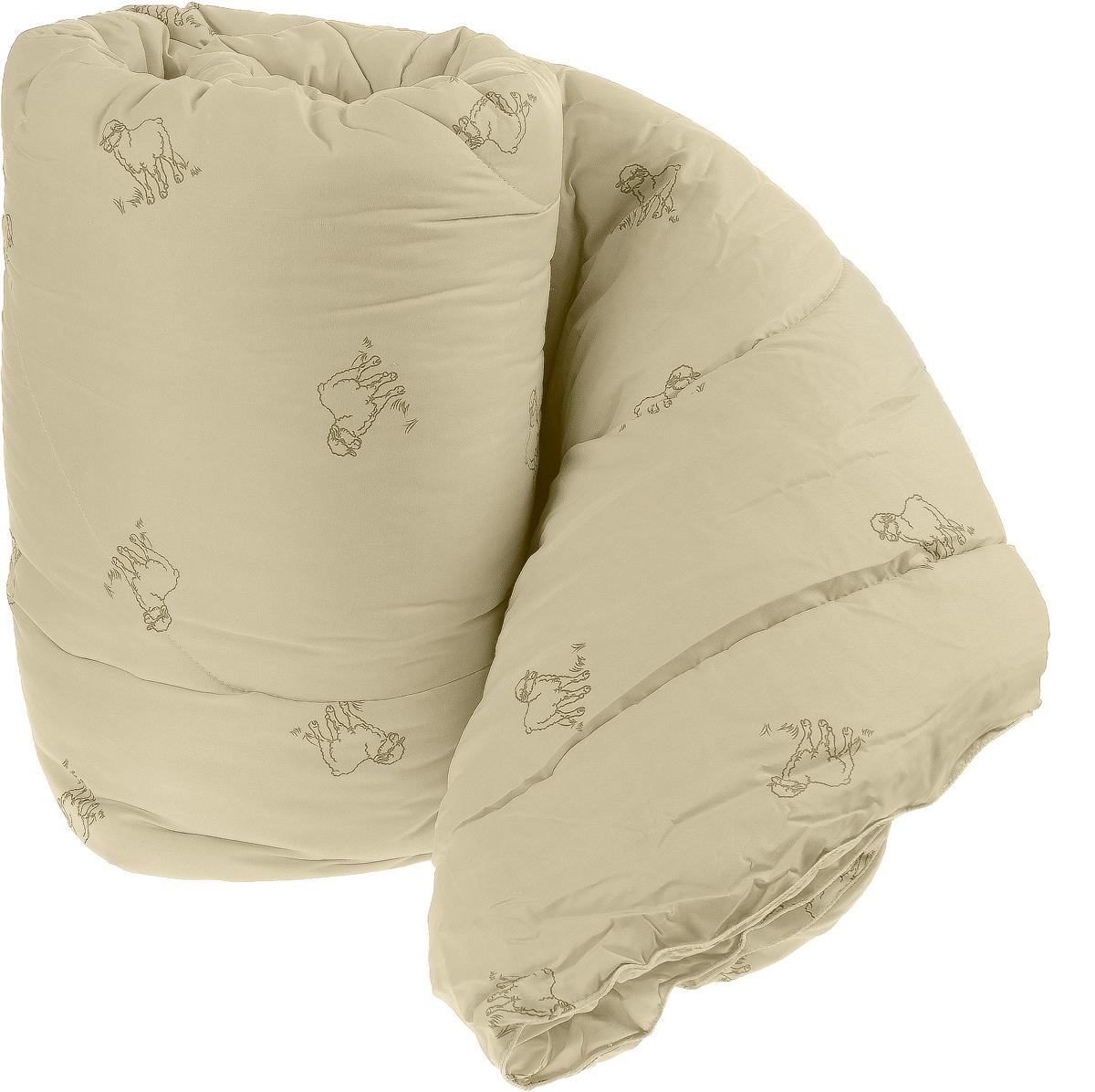 Одеяло теплое Легкие сны Золотое руно, наполнитель: овечья шерсть, цвет: в ассортименте, 200 х 220 см одеяла легкие сны одеяло перси теплое 172х205 см