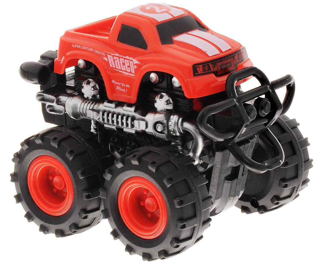 Big Motors Машинка инерционная 4 WD цвет красный №2 tomy машинка трактор с большими колесами с подсветкой и звуком