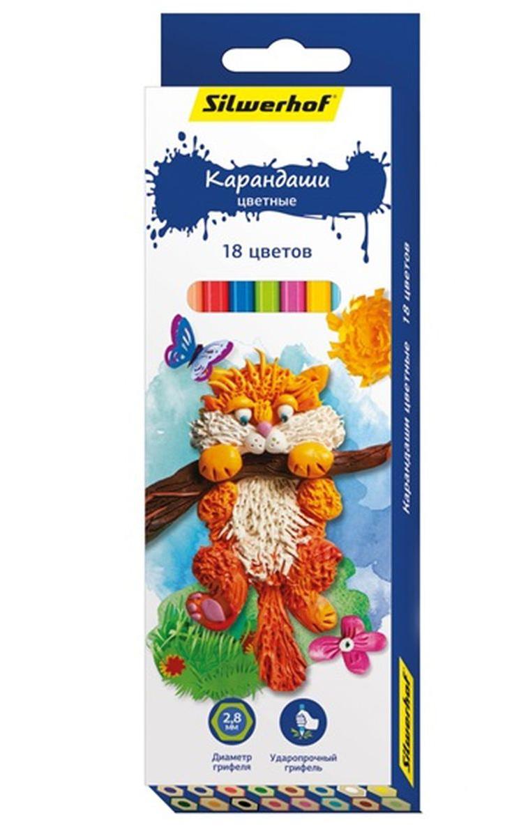 Silwerhof Карандаши цветные Пластилиновая коллекция 18 цветов134195-18Карандаши Silwerhof Пластилиновая коллекция станут хорошим подарком для маленьких начинающих художников.Шестигранный корпус изготовлен из натурального дерева.Благодаря специальной обработке, многослойной прокраске и лакировке, карандаши легко затачиваются, и их приятно держать в руках.Карандаши поставляются заточенными.В наборе 18 карандашей ярких, насыщенных цветов.