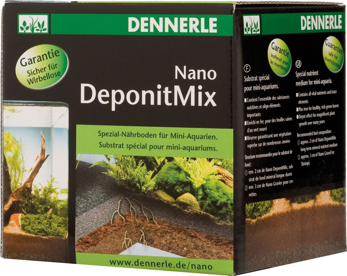 Подкормка грунтовая Dennerle  Nano Deponit Mix , для мини-аквариумов, готовая смесь, 1 кг
