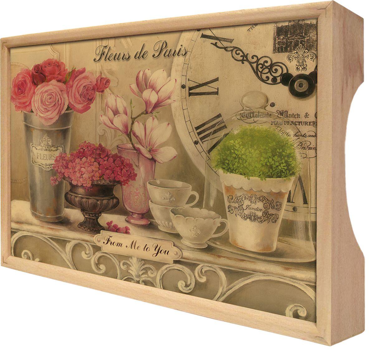 Поднос GiftnHome Парижские цветы, 25 х 37,5 смTR-FleursПоднос GiftnHome Парижские цветы изготовлен из бука - благородной породы древесины. Это крепкий, экологичный и надежный материал, который идеально подходит для производства подносов. Изделие прекрасно перенесет длительную эксплуатацию и надолго сохранит свой шарм древесной структуры и природные качества. Поднос - это великолепное решение для подарка и истинный комплимент вашим любимым и близким людям. С ним вы с легкостью сможете подать кофе, завтрак в постель или вынести на веранду гостям закуски и фрукты. Помимо функциональной пользы, данное изделие изысканно дополнит интерьер помещения и внесет уют в домашнее пространство. Нанесенные на поднос дизайнерские принты от Креативной Студии АнтониоК делают изделие уникальным.