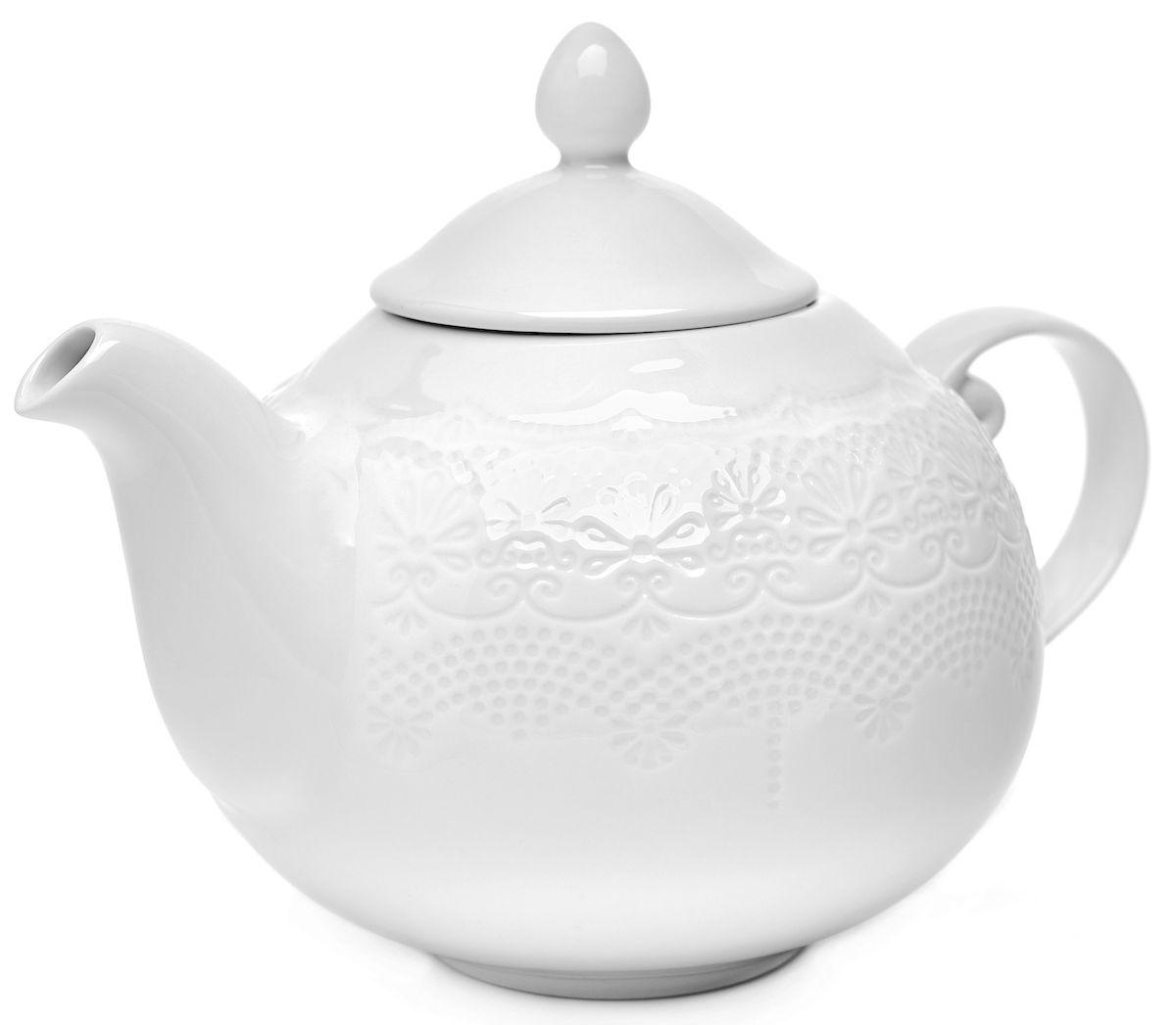 """Заварочный чайник Walmer """"Emily"""" изготовлен извысококачественного фарфора. Изделие прекрасно подходит для заваривания вкусного и ароматного чая,травяных настоев. Оригинальный дизайн сделает чайник настоящим украшением стола. Онудобен в использовании и понравится каждому.Высота чайника (без учета крышки): 14,5 см."""