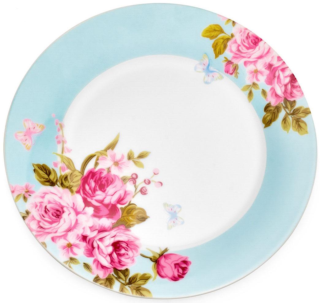 Тарелка десертная Walmer Mirabella, цвет: голубой, диаметр 19 смW19730019Десертная тарелка Walmer Mirabella изготовлена из экологически чистого фарфора. Изделие оформлено цветочным орнаментом.Такая тарелка прекрасно подходит как для торжественных случаев, так и для повседневного использования. Идеальна для подачи десертов, пирожных, тортов. Она прекрасно оформит стол и станет отличным дополнением к вашей коллекции кухонной посуды.Можно использовать в посудомоечной машине и СВЧ.Диаметр (по верхнему краю): 19 см.Высота стенки: 2 см.