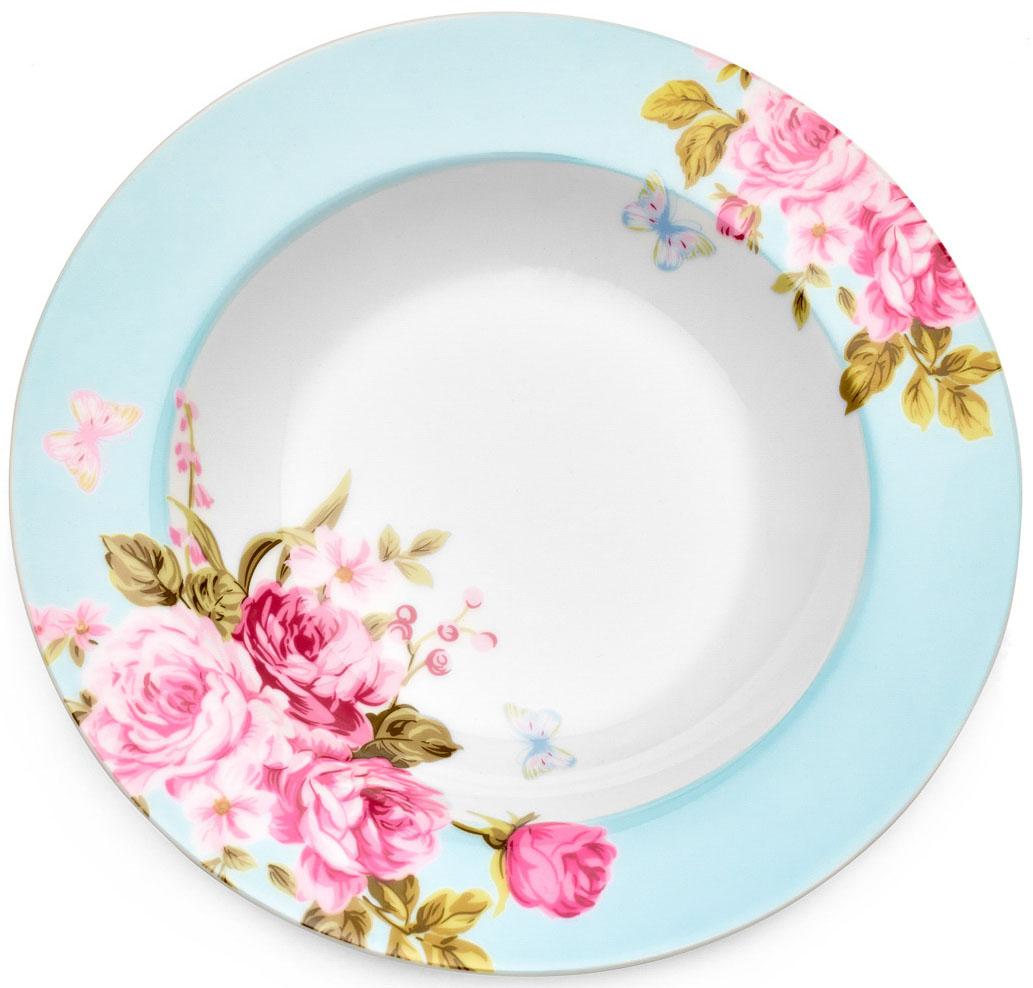 Тарелка суповая Walmer Mirabella, цвет: голубой, диаметр 21,5 смW19730021Суповая тарелка Walmer Mirabella изготовлена из экологически чистогофарфора. Изделие оформлено цветочным орнаментом. Такая тарелка прекрасно подходит как для торжественных случаев, так и дляповседневного использования. Можно использовать в посудомоечной машине и СВЧ. Диаметр (по верхнему краю): 21,5 см. Высота стенки: 3,5 см.