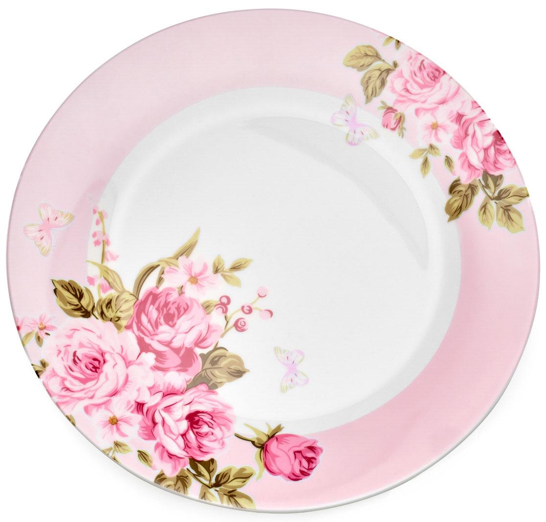 Тарелка обеденная Walmer Mirabella, цвет: розовый, диаметр 27 смW19830027Обеденная тарелка Walmer Mirabella изготовлена из экологически чистого фарфора. Изделие оформлено цветочным орнаментом.Такая тарелка прекрасно подходит как для торжественных случаев, так и для повседневного использования. Можно использовать в посудомоечной машине и СВЧ.Диаметр (по верхнему краю): 27 см.Высота стенки: 3 см.
