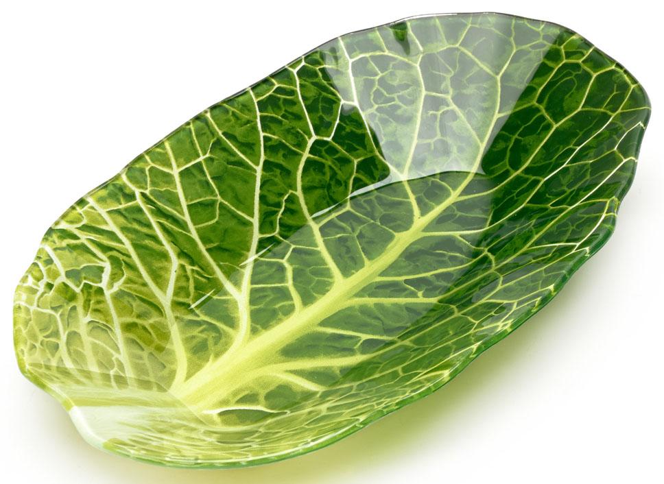 Салатник Walmer Leaf Lettuce. W22071323W22071323Салатник Walmer Leaf Lettuce в виде листа салата изготовлен из тонкого, но прочного стекла.Благодаря инновационной технологии впечатывания в стекло, краски не теряют яркость при частом мытье.Салатник легко мыть и удобно хранить.Размер салатника: 13 x 23 см.