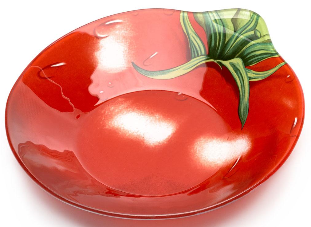 Салатник Walmer Tomato. W22081819W22081819Салатник Walmer Tomato в виде красного томата изготовлен из тонкого, но прочного стекла.Благодаря инновационной технологии впечатывания в стекло, краски не теряют яркость при частом мытье. Краска впечатана в стекло с обратной стороны блюда, что исключает ее контакт с пищей.Салатник легко мыть и удобно хранить.Длина салатника: 18 см.Ширина салатника: 19 см.Высота салатника: 3,3 см.