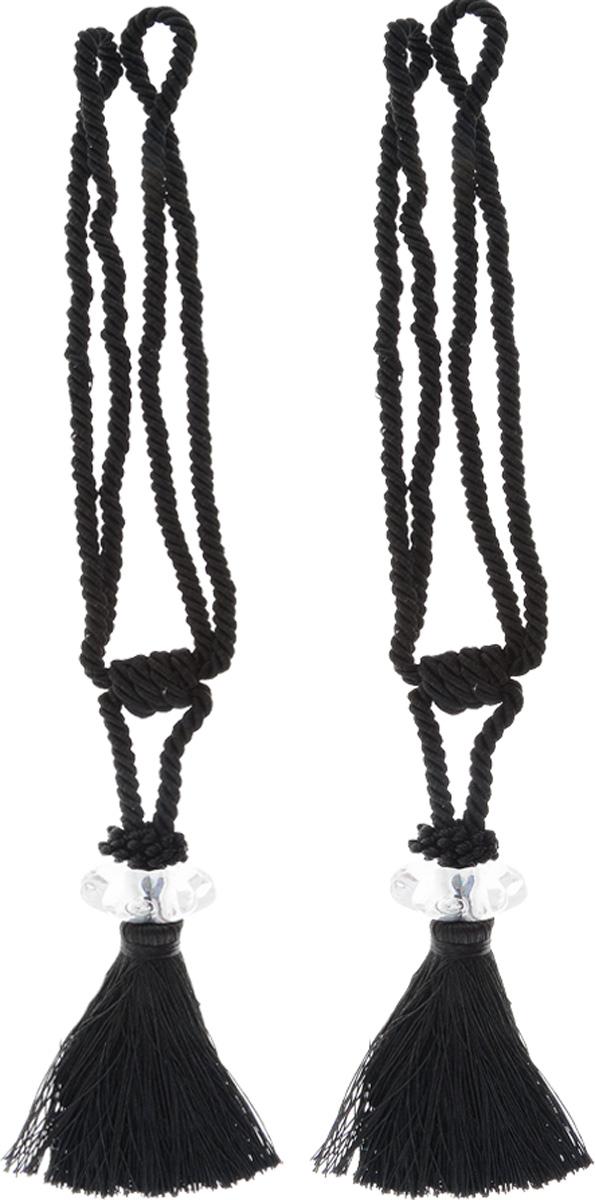 Подхват для штор Мир Мануфактуры, цвет: черный, длина 45 см, 2 шт546236_13 черныйПодхват для штор Мир Мануфактуры выполнен из высококачественной вискозы ипредставляет собой кисть на витом шнуре с декоративной бусиной.Подхват - это основной вид фурнитуры в декоре штор, сочетающий в себе не только декоративную функцию, но и практическую - регулировать поток света. Подхваты способны украсить любую комнату.Длина кисти с подхватом: 45 см.Длина кисти: 19 см.
