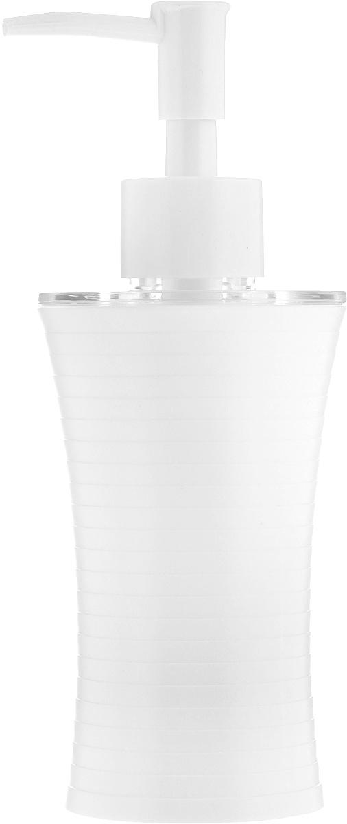 Дозатор для жидкого мыла Vanstore Style, цвет: белый, 200 мл313-03Дозатор для жидкого мыла Vanstore Style, изготовленный из пластика, отлично подойдет для вашей ванной комнаты.Такой аксессуар очень удобен в использовании, достаточно лишь перелить жидкое мыло в дозатор, а когда необходимо использование мыла, легким нажатием выдавить нужное количество. Дозатор для жидкого мыла Vanstore Style создаст особую атмосферу уюта и максимального комфорта в ванной.Высота дозатора: 18,5 см.