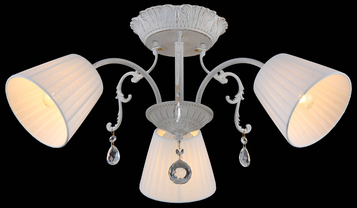Люстра Natali Kovaltseva, 3 x E14, 40W. 75016-3CMAJESTIC I 75016-3C WHITEЛюстра Natali Kovaltseva, выполненная в классическом стиле, станет украшением вашей комнаты и изысканно дополнит интерьер. Люстра выполнена из металла с хромированным покрытием, плафоны изготовлены из муранского стекла. В коллекциях Natali Kovaltseva представлены разные стили - от классики до хайтека. Дизайн и технологическая составляющая продукции разрабатывается в R&D центре компании, который находится в г. Дюссельдорф, Германия. При производстве продукции используются высококачественные и эксклюзивные материалы: хрусталь ASFOR, муранское стекло, перламутр, 24-каратное золото, бронза. Производство светильников соответствует стандарту системы менеджмента качества ISO 9001-2000. На всю продукцию ТМ Natali Kovaltseva распространяется гарантия.