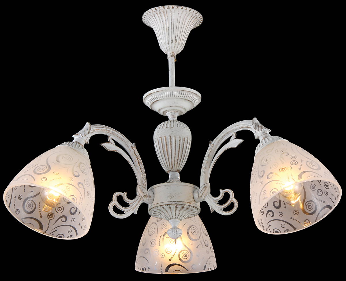 Люстра Natali Kovaltseva, 3 x E14, 60W. 75030-3CMARTINEZ II 75030-3C WHITEЛюстра Natali Kovaltseva, выполненная в классическом стиле, станет украшением вашей комнаты и изысканно дополнит интерьер. Люстра выполнена из металла с хромированным покрытием, плафоны изготовлены из муранского стекла. В коллекциях Natali Kovaltseva представлены разные стили - от классики до хайтека. Дизайн и технологическая составляющая продукции разрабатывается в R&D центре компании, который находится в г. Дюссельдорф, Германия. При производстве продукции используются высококачественные и эксклюзивные материалы: хрусталь ASFOR, муранское стекло, перламутр, 24-каратное золото, бронза. Производство светильников соответствует стандарту системы менеджмента качества ISO 9001-2000. На всю продукцию ТМ Natali Kovaltseva распространяется гарантия.