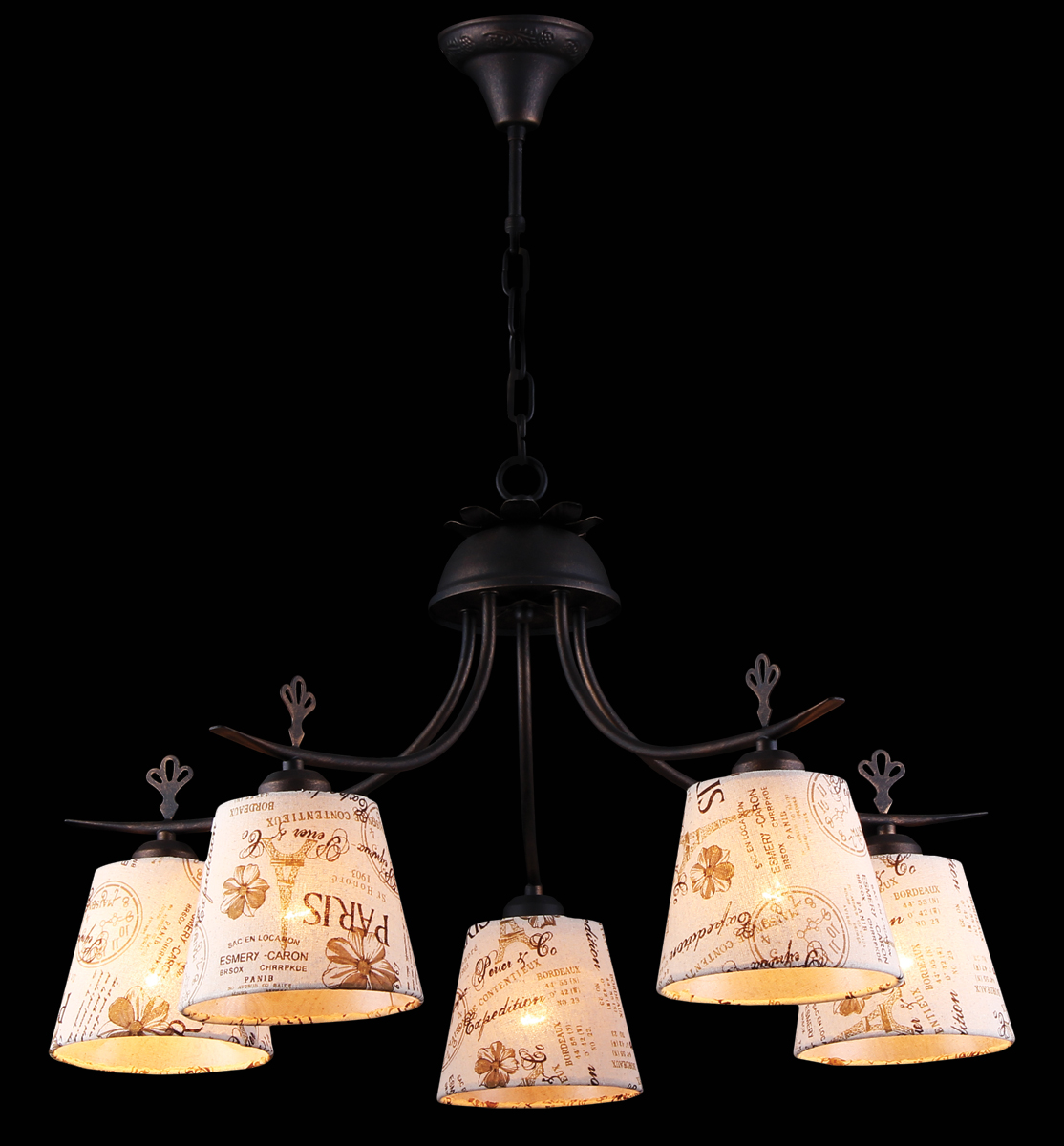 Люстра Natali Kovaltseva, 5 x E27, 40W. 11430/5СALPS 11430/5С BROWN GOLDЛюстра Natali Kovaltseva, выполненная в классическом стиле, станет украшением вашей комнаты и изысканно дополнит интерьер. Люстра выполнена из металла с хромированным покрытием, плафоны изготовлены из муранского стекла. В коллекциях Natali Kovaltseva представлены разные стили - от классики до хайтека. Дизайн и технологическая составляющая продукции разрабатывается в R&D центре компании, который находится в г. Дюссельдорф, Германия. При производстве продукции используются высококачественные и эксклюзивные материалы: хрусталь ASFOR, муранское стекло, перламутр, 24-каратное золото, бронза. Производство светильников соответствует стандарту системы менеджмента качества ISO 9001-2000. На всю продукцию ТМ Natali Kovaltseva распространяется гарантия.