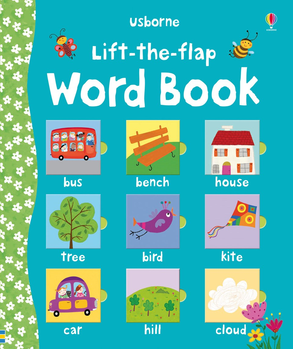 Lift the flap word book at home with handwriting 1