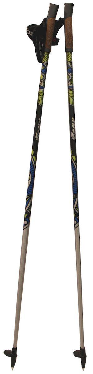 Палки для скандинавской ходьбы Cober Tear Green Oval, цвет: черный, желтый, синий, длина 140 см гель kapous professional man aftershave gel
