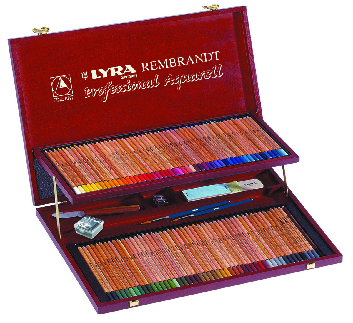 Lyra Художественные цветные карандаши Rembrandt Aquarell 106 предметов настольные игры partida набор для гольфа в деревянном кейсе