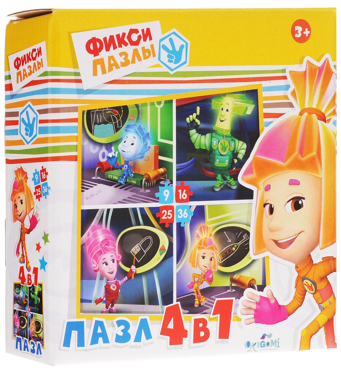 Оригами Пазл для малышей Фиксики 4 в 1 12550 learning journey пазл для малышей озорные фигуры 4 в 1