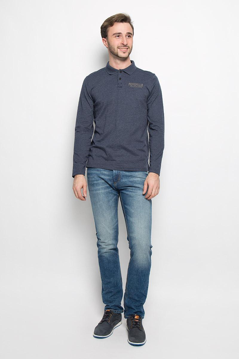 Поло мужское Tom Tailor, цвет: темно-синий. 1530964.00.10_6000. Размер XL (52)1530964.00.10_6000Мужское поло Tom Tailor, изготовленное из натурального хлопка, станет отличным дополнением к вашему гардеробу.Модель с отложным воротником и длинными рукавами спереди застегивается на две пуговицы. Нижняя часть модели по боковым швам дополнена разрезами.