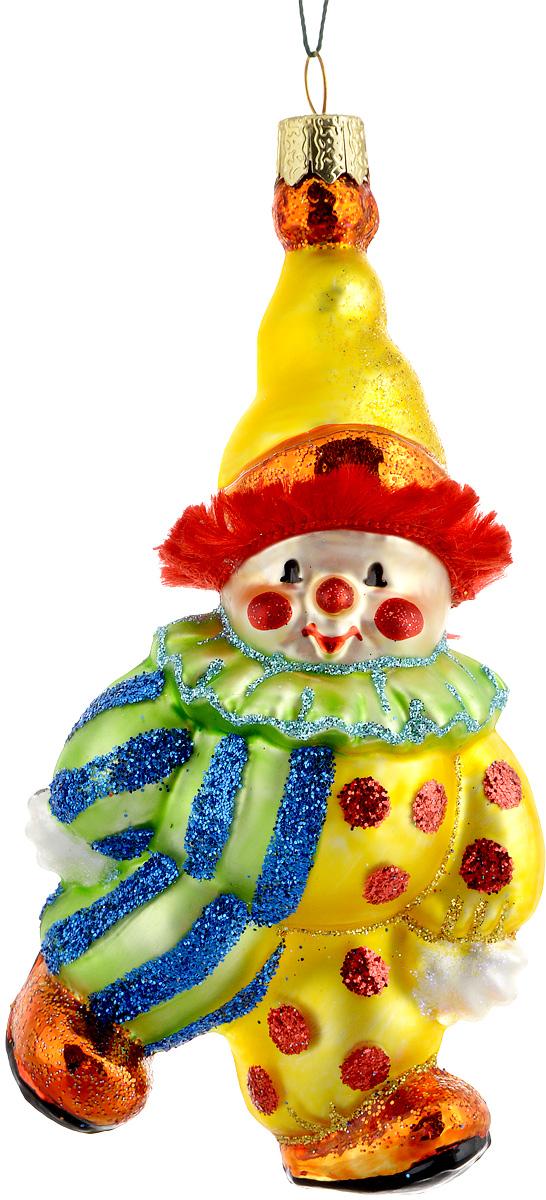 Украшение новогоднее подвесное Winter Wings Клоун, цвет: желтый, зеленый, голубой, длина 13 смN07243Новогоднее подвесное украшение Winter Wings Клоун выполнено из стекла и украшено блестками. С помощью специальной петельки украшение можно повесить в любом понравившемся вам месте. Но, конечно, удачнее всего оно будет смотреться на праздничной елке.Елочная игрушка - символ Нового года. Она несет в себе волшебство и красоту праздника. Создайте в своем доме атмосферу веселья и радости, украшая новогоднюю елку нарядными игрушками, которые будут из года в год накапливать теплоту воспоминаний.Материал: стекло.Длина: 13 см.