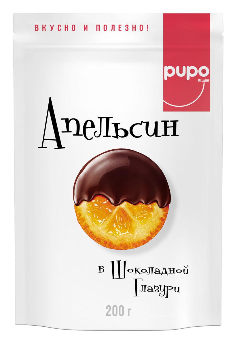 Pupo Апельсин в глазури конфеты глазированные, 200 г14.3035Фортунелла — это маленькие апельсины, которые называют в Японии и Китае золотыми. Они растут на плантациях Юго-Восточной Азии и проходят сушку естественным, экологичным образом под лучами солнца. Вяленые ароматные плоды Фортунелла в сладкой глазури - это богатый витаминами и минералами десерт, который имеет пикантный пряный вкус, тонизирует и укрепляет иммунитет. Фортунелла - источник энергии и хорошего настроения.