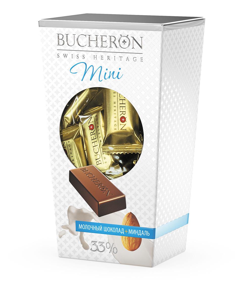 Bucheron Mini Шоколад молочный с миндалем, 171 г bucheron mini шоколад горький с фундуком мятой и кайенским перцем 171 г