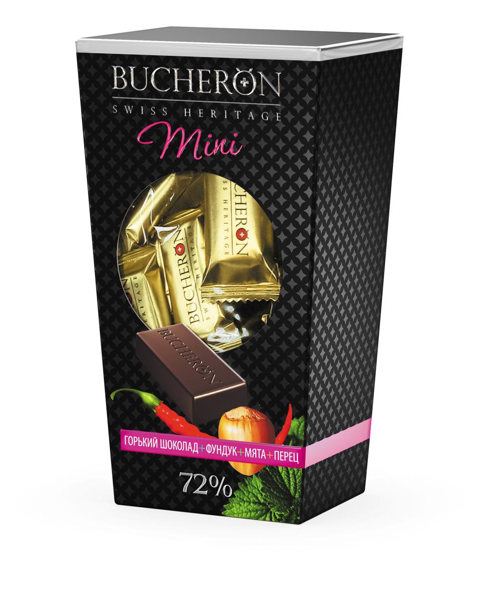 Bucheron Mini Шоколад горький с фундуком, мятой и кайенским перцем, 171 г14.3912Bucheron Mini создан по традиционной швейцарской рецептуре из какао-бобов, выросших на Берегу Слоновой Кости. Bucheron Mini - живите со вкусом.