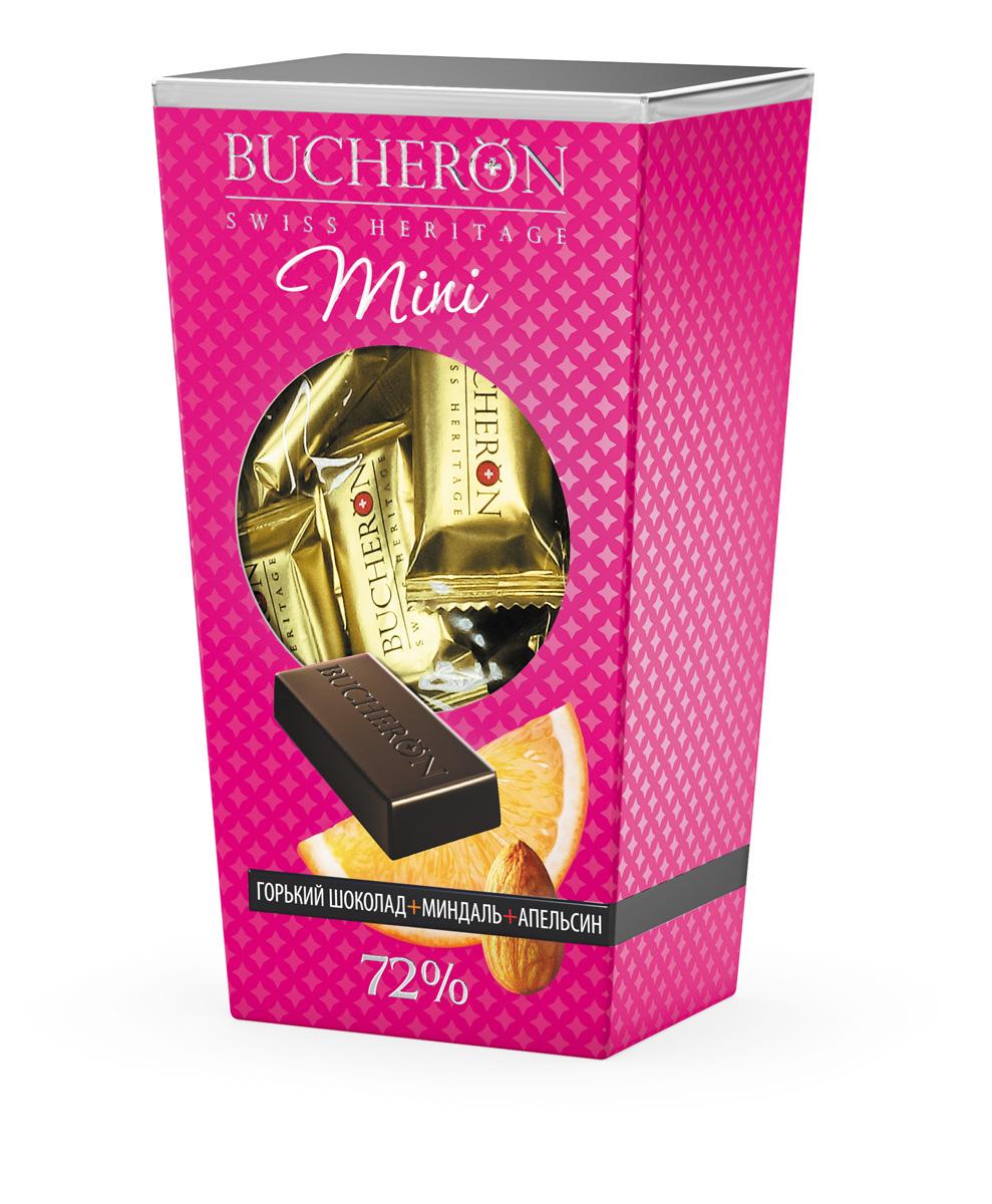 Bucheron Mini Шоколад горький с миндалем и апельсином, 171 г