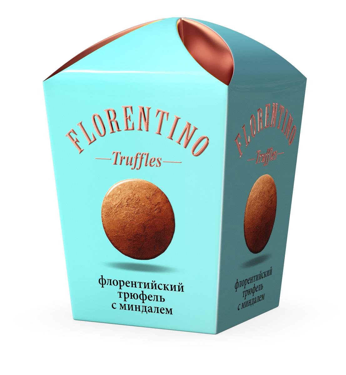 Florentino Флорентийский трюфель конфеты с миндалем, 175 г rondo клубника и мята освежающие конфеты 14 пачек по 30 г