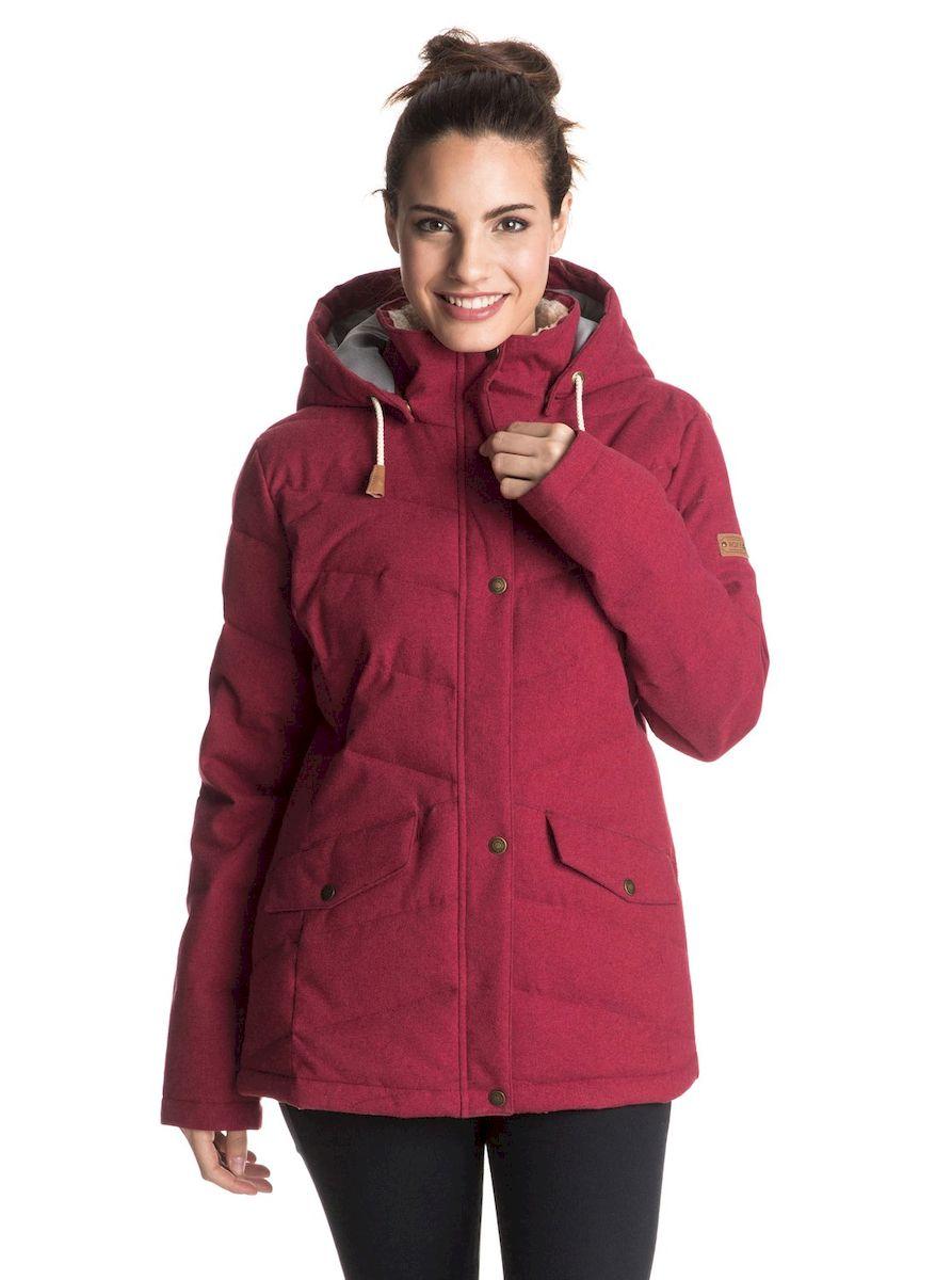 Купить Куртка женская Roxy Nancy, цвет: бордовый. ERJJK03126-RRM0. Размер S (42/44)