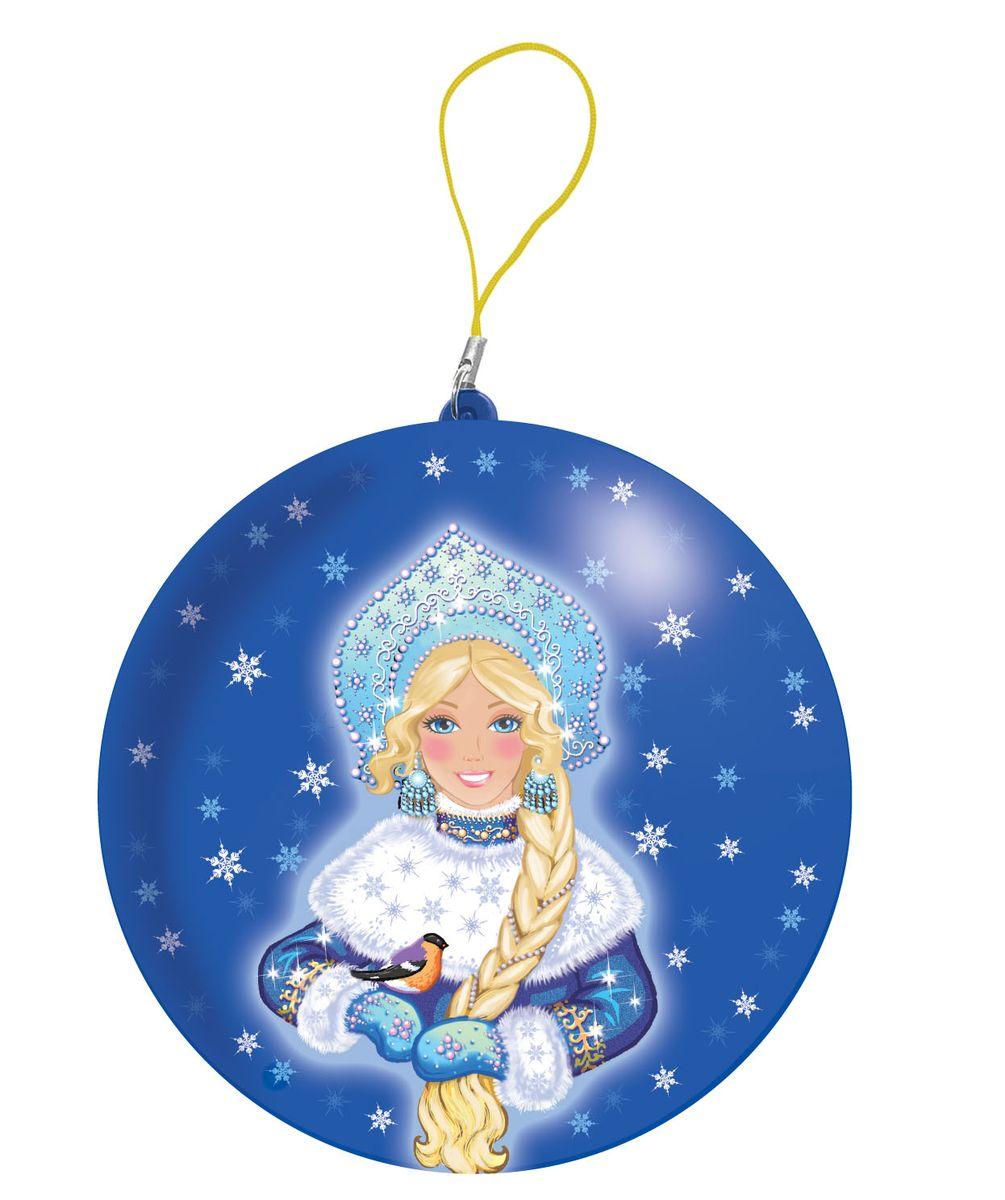 Сладкая Сказка Снегурочка синий подарочный шар карамель + магнит, 18 г сладкая сказка печенье дед мороз и снегурочка 400 г