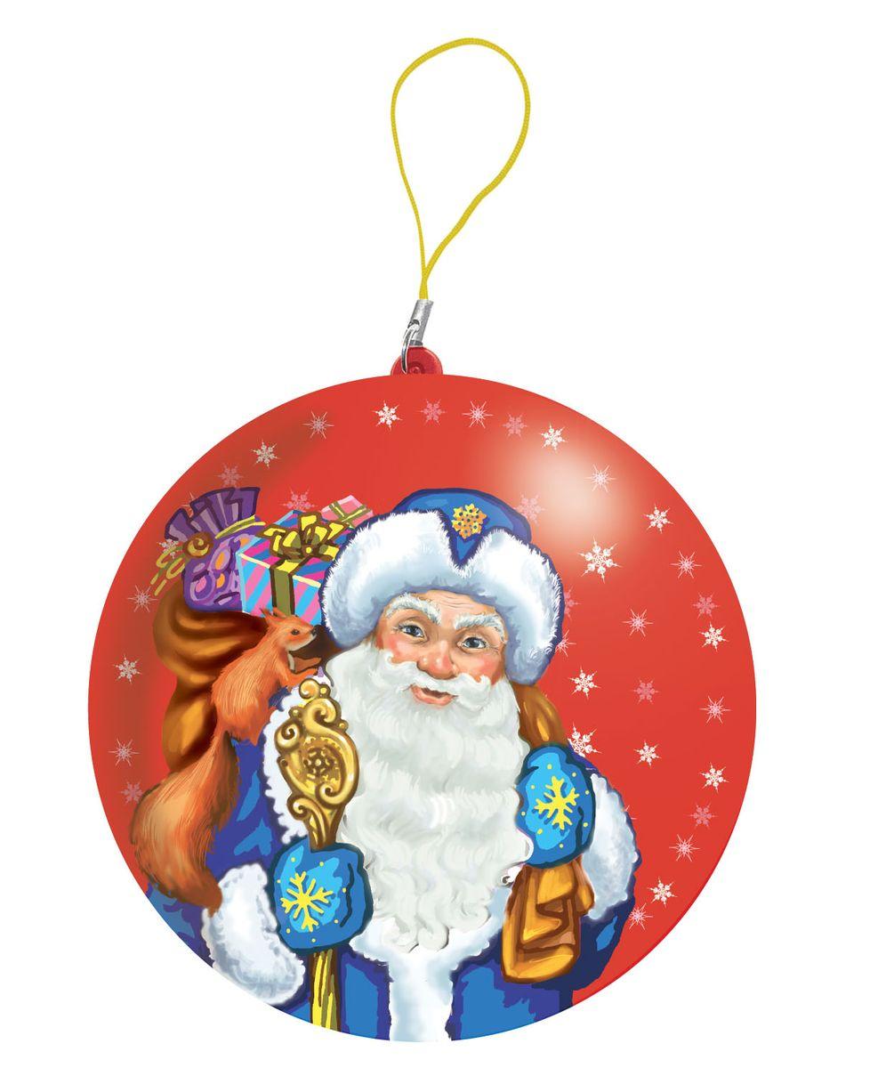 Сладкая Сказка Дед Мороз красный подарочный шар карамель + магнит, 18 гMK-52-8_красныйПодарочный жестяной шар с Дедом Морозом от группы компаний Сладкая сказка станет отличным подарком для детей, друзей и коллег на новогодние и рождественские праздники.Внутри каждого шара находится натуральная леденцовая карамель российского производства, которая изготавливается на российской фабрике и коллекционный магнит с одним из любимых новогодних персонажей детей. Также в каждом шаре — вкладыш с новогодним предсказанием. На одной стороне — предсказание на будущий год для детей, на другой — для взрослых.Такой шар, благодаря специальной петельке, можно повесить на ёлку как украшение. Он легко открывается и закрывается, поэтому станет отличной шкатулкой необычной формы для хранения разных мелочей. Кроме того, с ним можно играть в разные игры: петанк, боулинг или жонглирование.