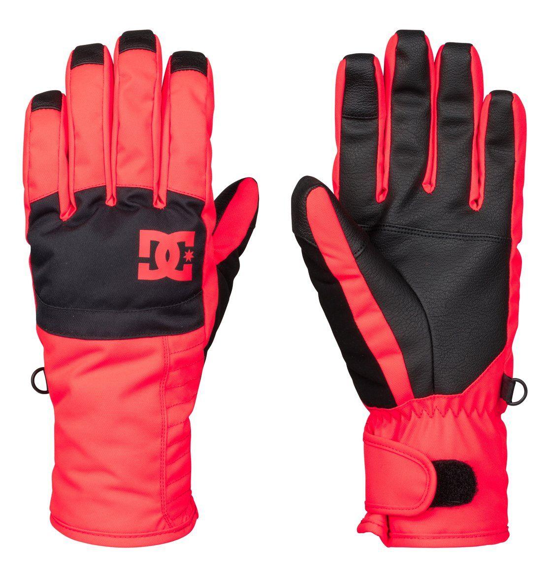 Перчатки женские DC Shoes Seger Wmn Glove, цвет: оранжево-коралловый, черный. EDJHN03007-MKZ0. Размер S (6,5/7)EDJHN03007-MKZ0