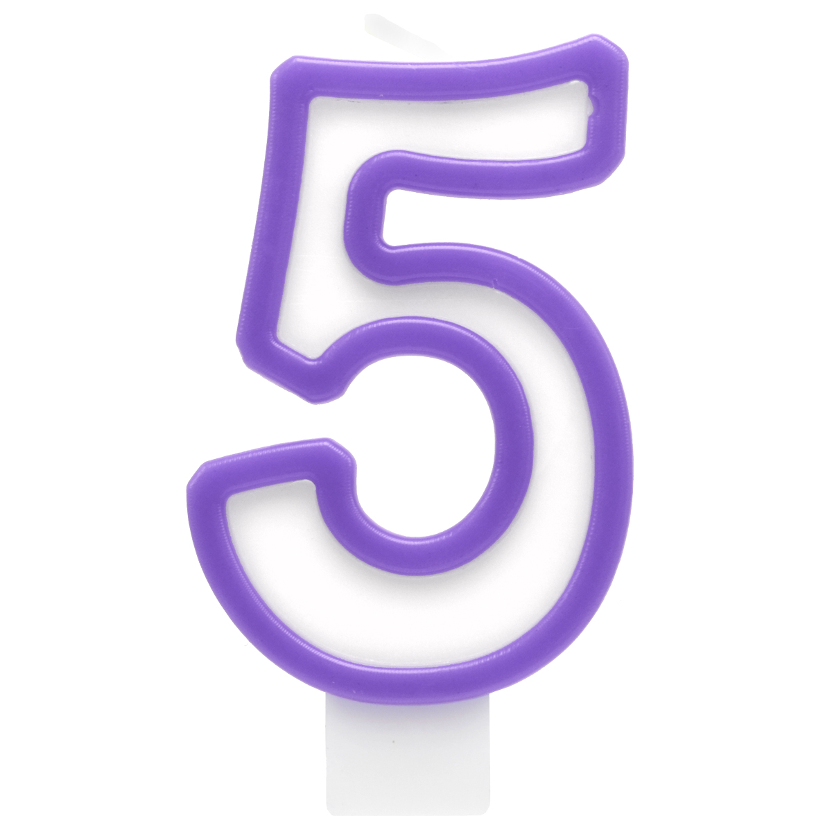 Action! Свеча-цифра для торта 5 лет цвет сиреневый пати бум свеча для торта мини цифра 8