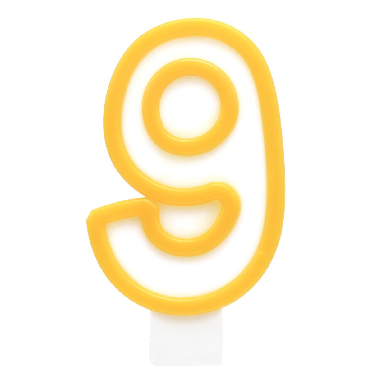 Action! Свеча-цифра для торта 9 лет цвет желтый action свеча цифра для торта 9 лет цвет фиолетовый